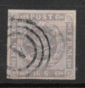 Denmark 1854 - AFA 6 - Cancelled