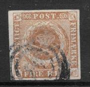 Denmark 1854 - AFA IIIa - Cancelled