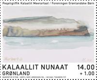 Grønland - Dronningens akvareller - Postfrisk velgørenhedsmærke