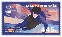 Ungarn - Vinter OL 2018 - Postfrisk frimærke