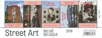 Belgien - Gadekunst - Postfrisk sæt 5v