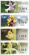 Åland - Orchidées - Série neuve 4v timbres distributeur