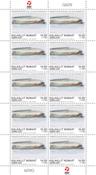 Grønland - Dronningens akvareller - Postfrisk 10-ark