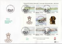 Grønland - Dronningens akvareller - Førstedagskuvert med miniark