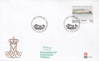 Grønland - Dronningens akvareller - Førstedagskuvert med enkeltmærke