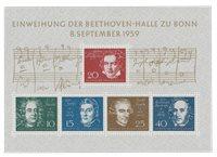 Tyskland 1959 - Michel B2 / AFA miniark 1279-1283 - Postfrisk