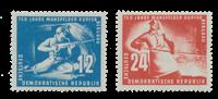 DDR 1950 - Michel 273-274 / AFA 106-107 - Postfrisk