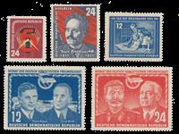 DDR 1951 - Michel 293-297 / AFA 127+128+129+130-131 - Postfrisk