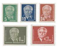 République Démocratique Allemande 1952 - Michel 322-326 - Neuf