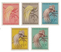 Nederlands Nieuw Guinea 1954 - Nr. 25-29 - Postfris