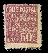 France - Colis postaux YT 72 - Neuf avec charnières