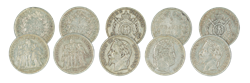 5 French and Belgian coins
