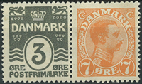 Danemark - Timbres distributeurs - 1919
