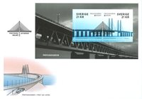 Suède - Le pont d'Øresund - Enveloppe premier jour