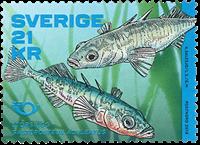 Sverige - Trepigget hundestejle - Postfrisk rullefrimærke
