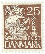 Danemark - timbre gravé AFA 214A
