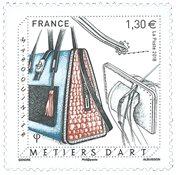 外国邮票 法国邮票 2018 新邮 法国奢侈品皮革包纪念邮票 - 新票