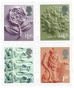 外国邮票 英国邮票 2018 新邮 英国2018普通邮票 英格兰版 普票 - 新票套票4枚