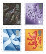 外国邮票 英国邮票 2018 新邮 英国2018普通邮票 苏格兰版 普票 - 新票套票4枚