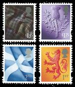 England - Skotland regionalmærker - Postfrisk sæt 4v
