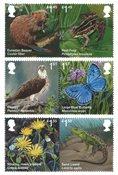 外国邮票 英国邮票 2018 新邮 英国皇家邮政 濒危灭绝物种系列 - 新票套票6枚