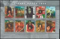 Ungarn - Revolutionens helte 1956 - Postfrisk miniark