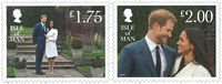 Isle of Man - Prince Harry and Meghan Markle - Mint set 2v