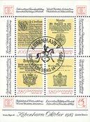 Danmark - Hafnia 1987 blok II - Stemplet