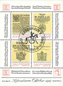 Danmark hafnia 1987 blok II #