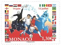 Monaco - FIFA World Cup Russia 2018 - Mint stamp