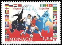 Monaco - FIFA Coupe du Monde de football 2018 - Timbre neuf