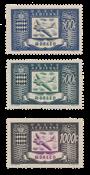 Monaco YT A42-44 - Postfrisk