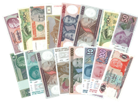 World Wide - Real bank notes