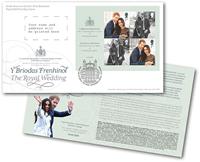 Engeland - Koninklijke bruiloft - FDC met souvenir velletje