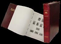 Stender album - Færøerne 1919-2016 rød uden lommer   skruebind