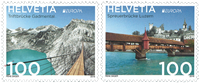 Switzerland - Europa 2018 - Bridges - Mint set 2v