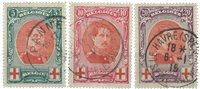 Belgique - Croix Rouge, roi Albert grand format - Obl. (OBP 132-34)