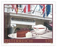 外国邮票 奥地利邮票 2018 新邮 维也纳萨赫酒店 奥地利传统蛋糕 - 新票