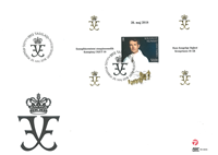 Greenland - Crown Prince Frederik 50 years - First Day Cover with s/s
