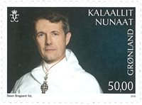 Greenland - Crown prince Frederik 50 years - Mint stamp