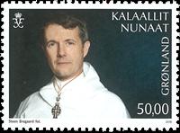 Grønland - Frederik 50 år - Postfrisk frimærke