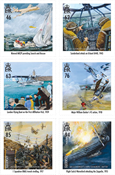 Guernsey - Royal Air Force 100 years - Mint set 6v