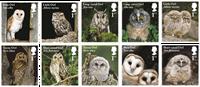 Engeland - Uilen - Postfrisse serie van 10