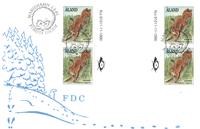 Åland 1991 - FDC med gutterpair / Firblok LAPE nr.  45