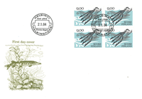 Finland 1984 - FDC - Firblok - LAPE nr. 937