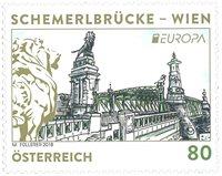 外国邮票 奥地利邮票 2018 新邮 欧罗巴 欧洲 桥梁 狮子桥 - 新票
