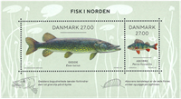 Danemark - Norden 2018 / Poissons - Bloc-feuillet neuf