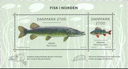 Danmark - Nordiske fisk - Postfrisk miniark