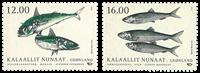 Grønland - Nordens fisk - Postfrisk frimærke