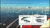 Grønland - Nordiske fisk - Postfrisk miniark